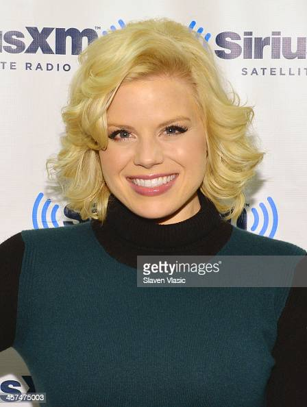 Actress Megan Hilty visits SiriusXM Studios on December 17 2013 in New York City