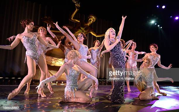 Actress Megan Hilty wearing Diamonds from the Tiffany Co 2013 Blue Book Collection performs onstage at the Tiffany Co Blue Book Ball at Rockefeller...