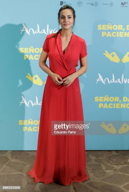 Actress Megan Montaner attends the 'Senor dame paciencia' premiere at Fortuny Palace on June 15 2017 in Madrid Spain