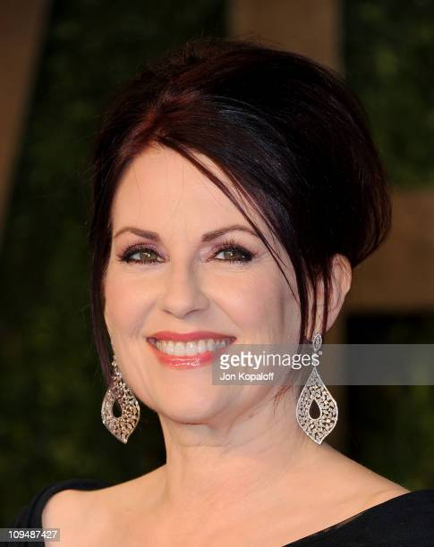Actress Megan Mullally arrives at the Vanity Fair Oscar Party at Sunset Tower on February 27 2011 in West Hollywood California