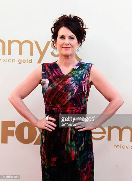 Actress Megan Mullally arrives to the 63rd Primetime Emmy Awards at the Nokia Theatre LA Live on September 18 2011 in Los Angeles United States
