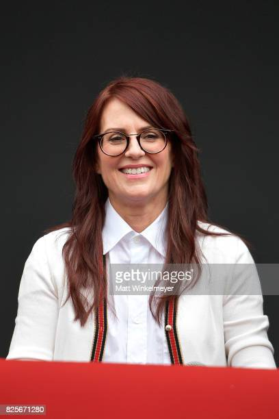 Actress Megan Mullally attends the 'Will Grace' ribbon cutting Ceremony on August 2 2017 in Los Angeles California
