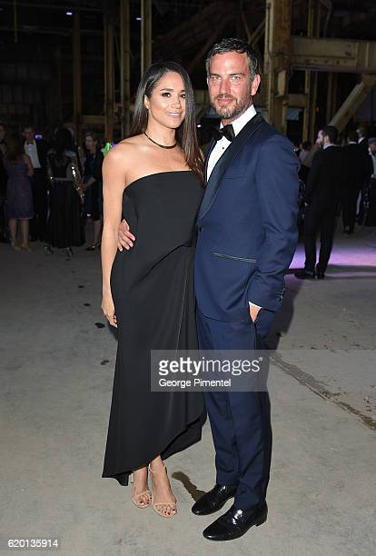 Actress Meghan Markle and Markus Anderson attend Luminato Big Bang Bash 2016 held at the Hearn Generating Station on June 9 2016 in Toronto Canada