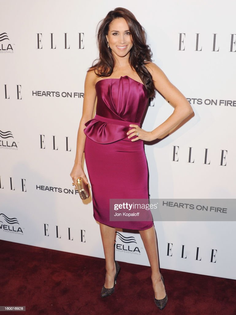 Actress Meghan Markle arrives at ELLE's 2nd Annual Women In TV Event at Soho House on January 24, 2013 in West Hollywood, California.