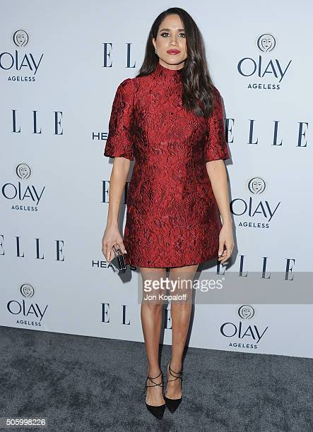 Actress Meghan Markle arrives at ELLE's 6th Annual Women In Television Dinner at Sunset Tower Hotel on January 20 2016 in West Hollywood California