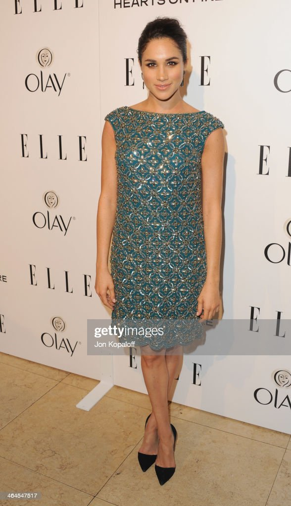 Actress Meghan Markle arrives at the ELLE Women In Television Celebration at Sunset Tower on January 22 2014 in West Hollywood California