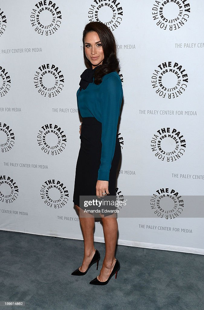 Actress Meghan Markle arrives at The Paley Center For Media Presents An Evening With 'Suits' Mid-Season Premiere Screening And Panel at The Paley Center for Media on January 14, 2013 in Beverly Hills, California.
