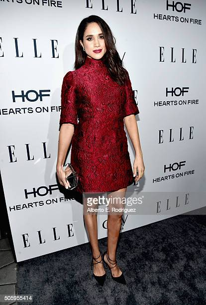 Actress Meghan Markle attends ELLE's 6th Annual Women In Television Dinner at Sunset Tower Hotel on January 20 2016 in West Hollywood California