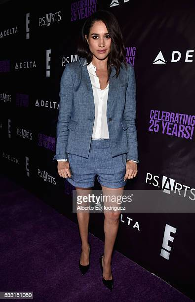 Actress Meghan Markle attends PS Arts' The pARTy at NeueHouse Hollywood on May 20 2016 in Los Angeles California