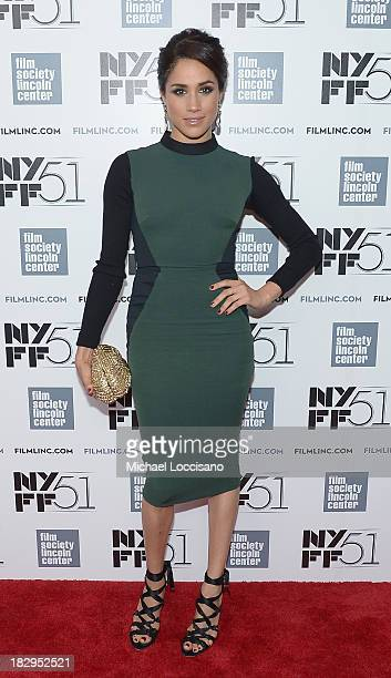 Actress Meghan Markle attends the Gala Tribute for Cate Blanchett during the 51st New York Film Festival at Alice Tully Hall at Lincoln Center on...