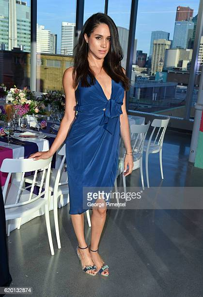 Actress Meghan Markle attends the Instagram Dinner held at the MARS Discovery District on May 31 2016 in Toronto Canada