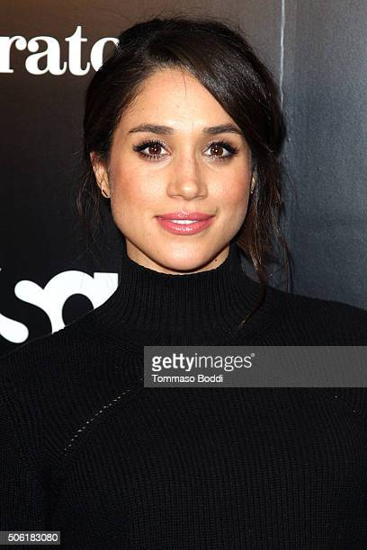 Actress Meghan Markle attends the premiere of USA Network's 'Suits' season 5 held at Sheraton Los Angeles Downtown Hotel on January 21 2016 in Los...