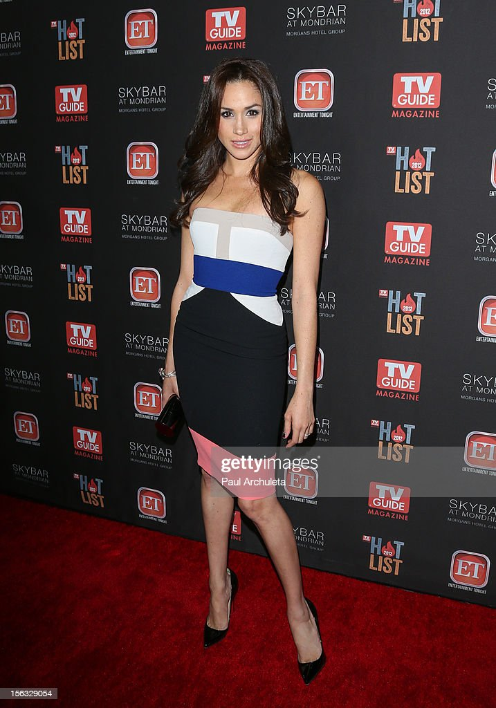 Actress Meghan Markle attends the TV Guide Magazine Hot List Party at SkyBar at the Mondrian Los Angeles on November 12, 2012 in West Hollywood, California.