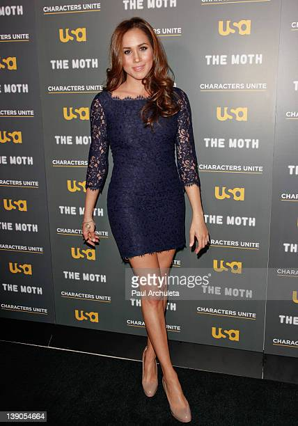 Actress Meghan Markle attends the USA Network and The Moth presentation of 'A More Perfect Union Stories Of Prejudice And Power' at Pacific Design...
