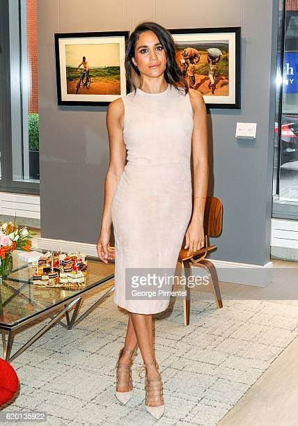Actress Meghan Markle attends the World Vision event held at Lumas Gallery on March 22 2016 in Toronto Canada