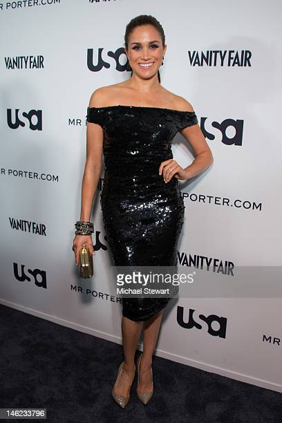 Actress Meghan Markle attends USA Networks a 'Suits' Story Fashion Show on June 12 2012 in New York United States