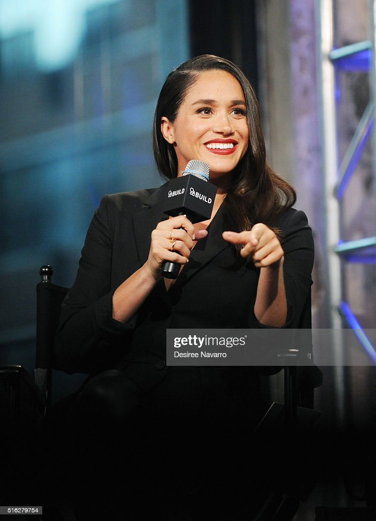 Actress Meghan Markle discusses her role in 'Suits' during AOL Build at AOL Studios In New York on March 17, 2016 in New York City.