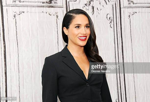 Actress Meghan Markle discusses her role in 'Suits' during AOL Build at AOL Studios In New York on March 17 2016 in New York City