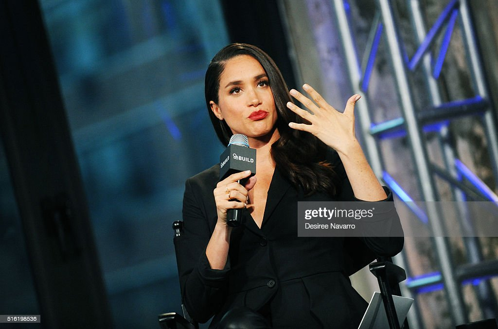 Actress Meghan Markle discusses her role in the very popular 'Suits during AOL Build at AOL Studios In New York on March 17, 2016 in New York City.