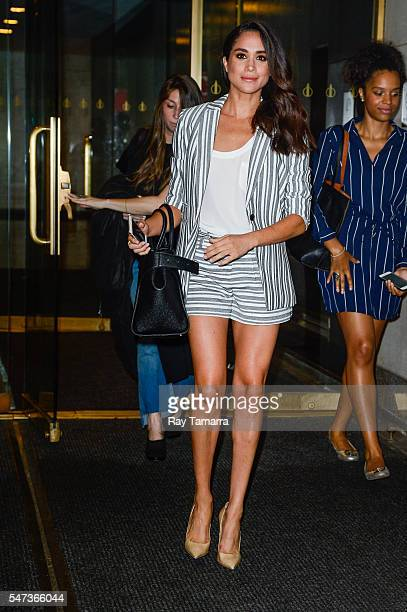 Actress Meghan Markle leaves the 'Today Show' taping at NBC Rockefeller Center Studios on July 14 2016 in New York City