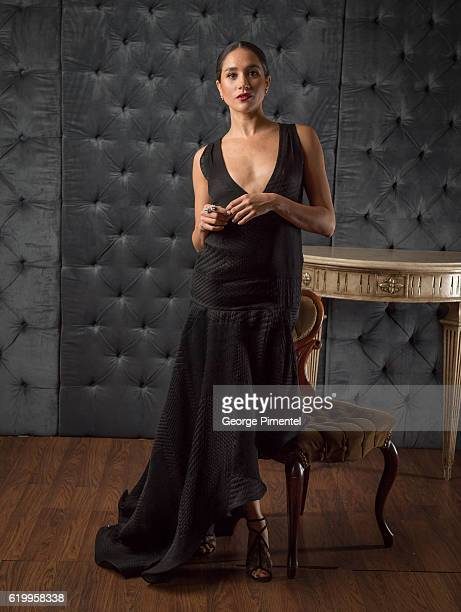 Actress Meghan Markle poses in the CAFA portrait studio at The Fairmont Royal York Hotel on April 15 2016 in Toronto Canada