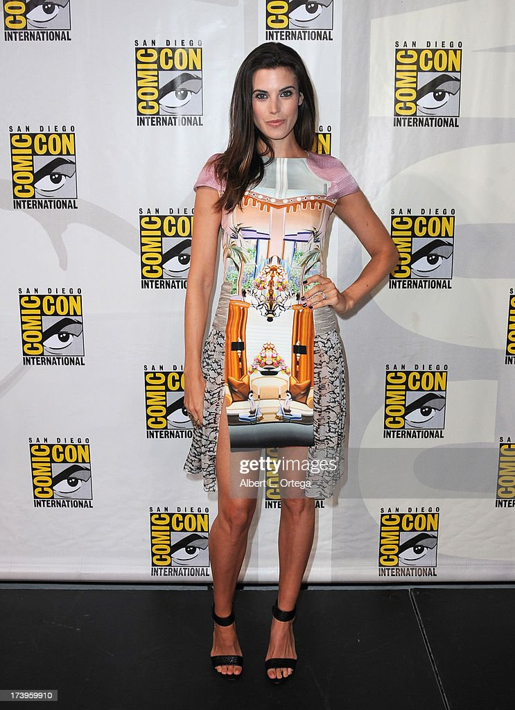 Actress Meghan Ory speaks onstage at the 'Intelligence' panel during Comic-Con International 2013 at San Diego Convention Center on July 18, 2013 in San Diego, California.