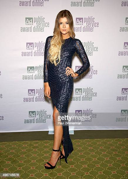 Actress Meghan Rienks attends the Ad Council's 62nd Annual Public Service Award Dinner at The Waldorf=Astoria on November 11 2015 in New York City