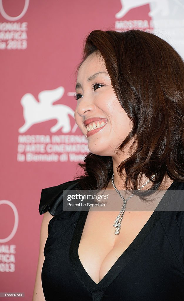 Actress <a gi-track='captionPersonalityLinkClicked' href=/galleries/search?phrase=Megumi+Kagurazaka&family=editorial&specificpeople=7793958 ng-click='$event.stopPropagation()'>Megumi Kagurazaka</a> attends the 'Why Don't You Play In Hell?' Photocall during the 70th Venice International Film Festivalon August 29, 2013 in Venice, Italy.