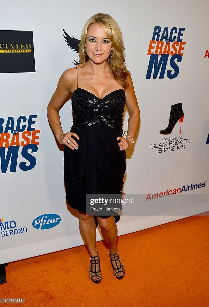 Actress Megyn Price arrives at the 19th Annual Race to Erase MS held at the Hyatt Regency Century Plaza on May 18, 2012 in Century City, California.
