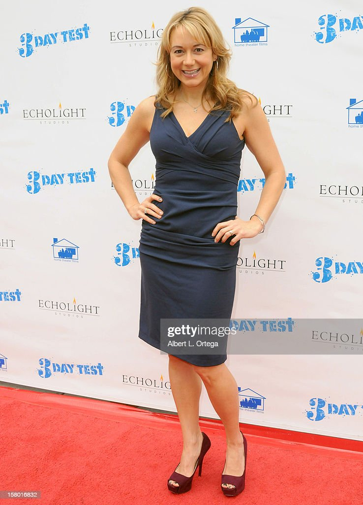 Actress Megyn Price arrives for the the screening of '3 Day Test' held at Downtown Independent Theater on December 8, 2012 in Los Angeles, California.