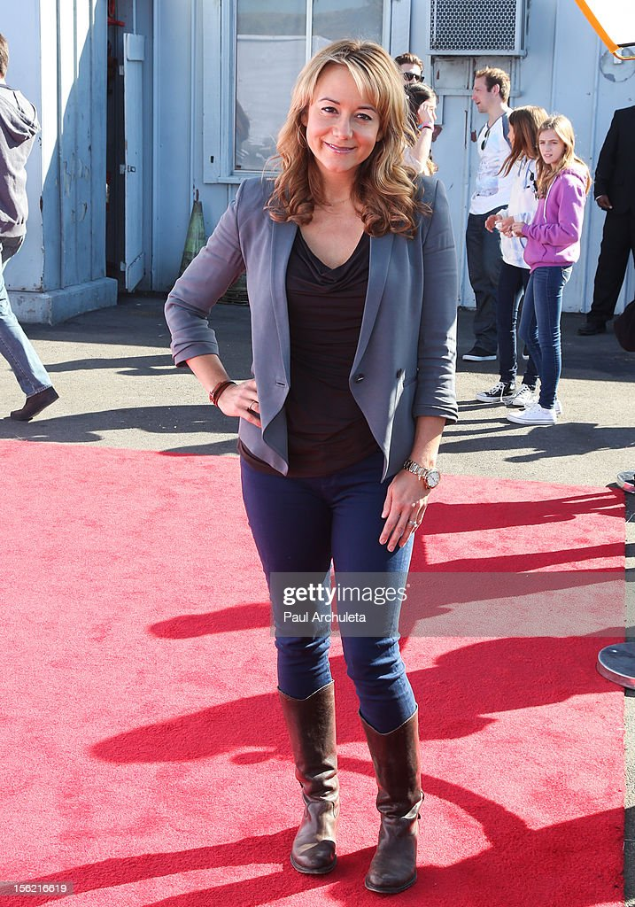 Actress Megyn Price attends the 14th anniversary of P.S. Arts Express Yourself gala at Barker Hangar on November 11, 2012 in Santa Monica, California.