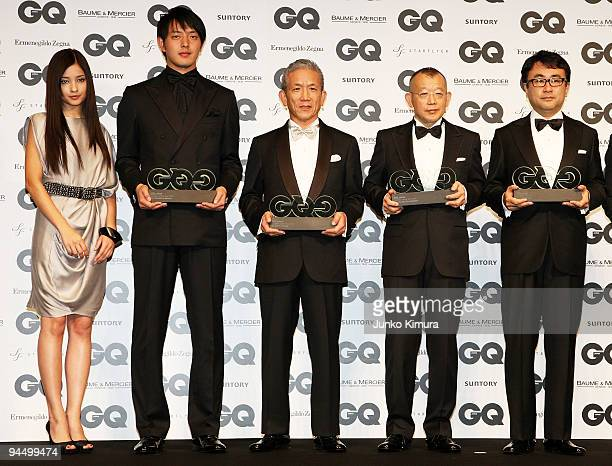 Actress Meisa Kuroki Rakuten Golden Eagles pitcher Hisashi Iwakuma Japan McDonald's Holdings CEO Eikoh Harada Rakugo performer Tsurube Shofukutei and...
