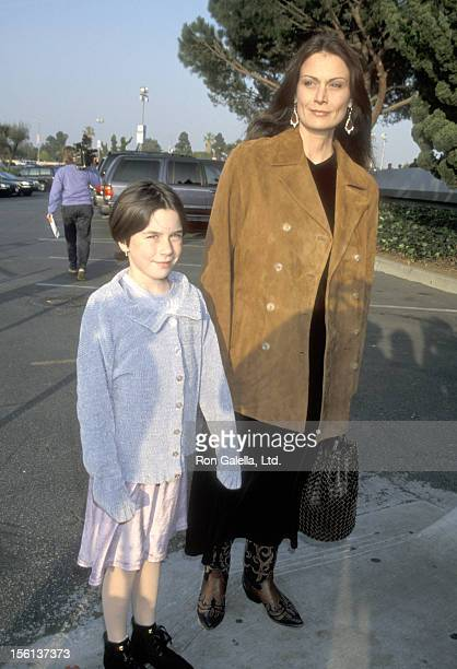 Actress Mel Harris and daughter Madeline Smith attend the 'Discover Stars on Ice Tour' on January 17 1999 at Great Western Forum in Inglewood...