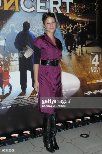 Actress Melanie Bernier attends the premiere of ''Le Concert'' at the Theatre du Chatelet on October 23 2009 in Paris France