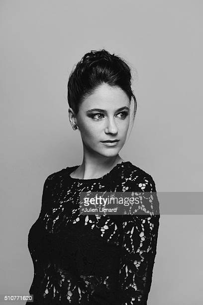 Actress Melanie Bernier is photographed for for Self Assignment on February 2 2016 in Paris France