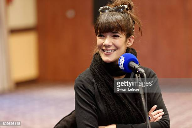 Actress Melanie Doutey attends a radio broadcast recording during 'Les Arcs European Film Festival' on December 14 2016 in Les Arcs France