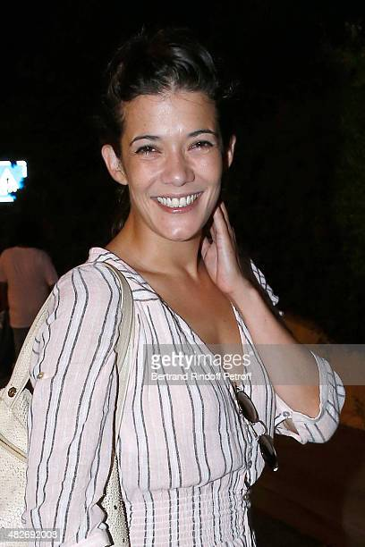 Actress Melanie Doutey attends the 'Madame Foresti' show of Humorist Florence Foresti during the 31th Ramatuelle Festival Day 1 on August 1 2015 in...