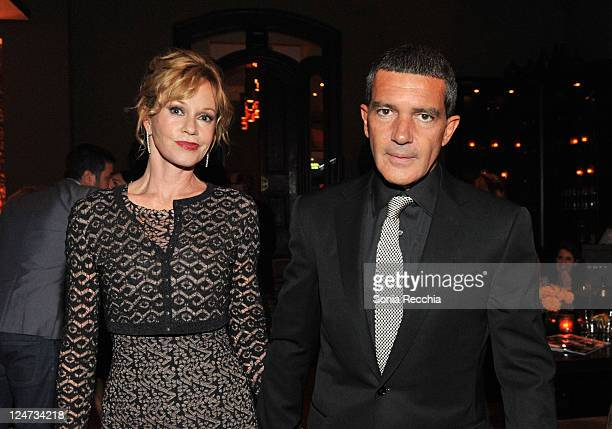 Actress Melanie Griffith and actor Antonio Banderas arrive at Sony Pictures Classics 20th Anniversary Party at the 2011 Toronto International Film...
