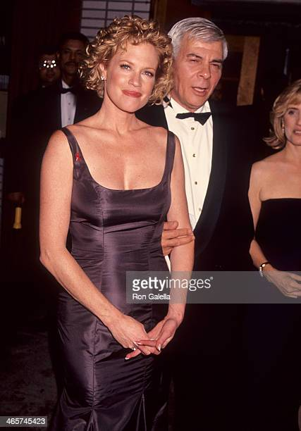 Actress Melanie Griffith and talent agent Ed Limato attend the 48th Annual Tony Awards on June 12 1994 at the Gershwin Theatre in New York City