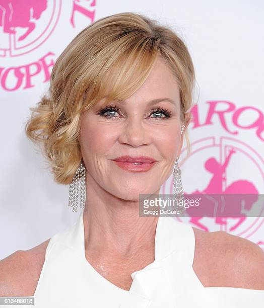 Actress Melanie Griffith arrives at the 2016 Carousel Of Hope Ball at The Beverly Hilton Hotel on October 8 2016 in Beverly Hills California