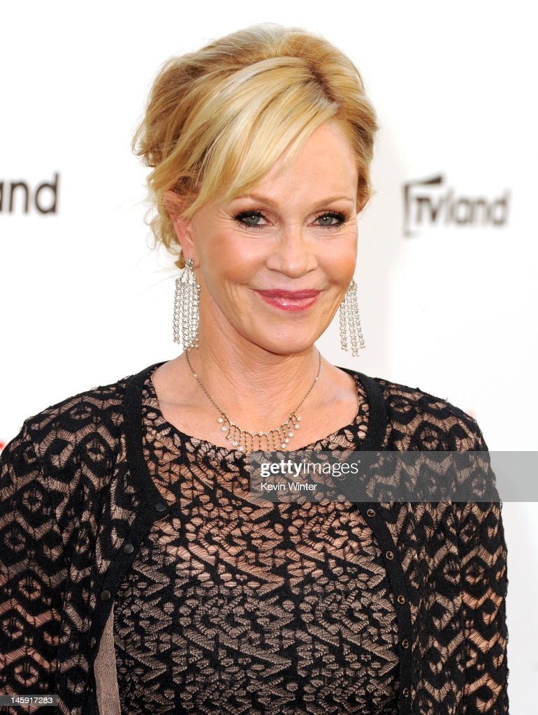 Actress <a gi-track='captionPersonalityLinkClicked' href=/galleries/search?phrase=Melanie+Griffith&family=editorial&specificpeople=171682 ng-click='$event.stopPropagation()'>Melanie Griffith</a> arrives at the 40th AFI Life Achievement Award honoring Shirley MacLaine held at Sony Pictures Studios on June 7, 2012 in Culver City, California. The AFI Life Achievement Award tribute to Shirley MacLaine will premiere on TV Land on Saturday, June 24 at 9PM