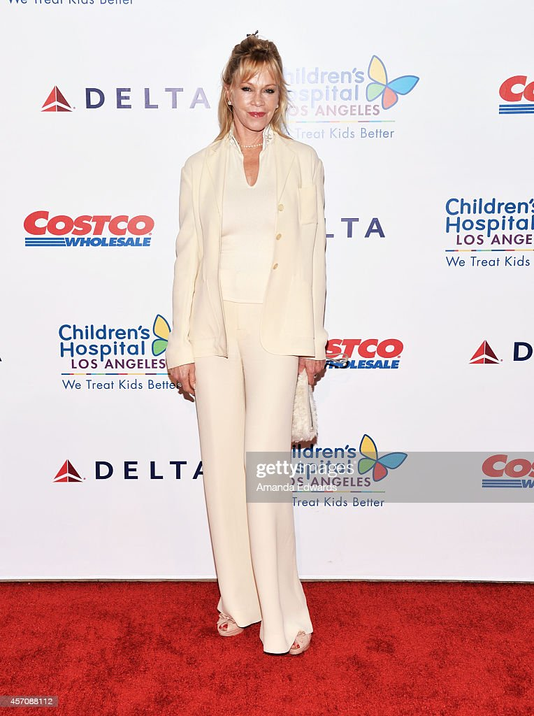 Actress Melanie Griffith arrives at the Children's Hospital Los Angeles Gala Noche de Ninos at the LA Live Event Deck on October 11 2014 in Los...