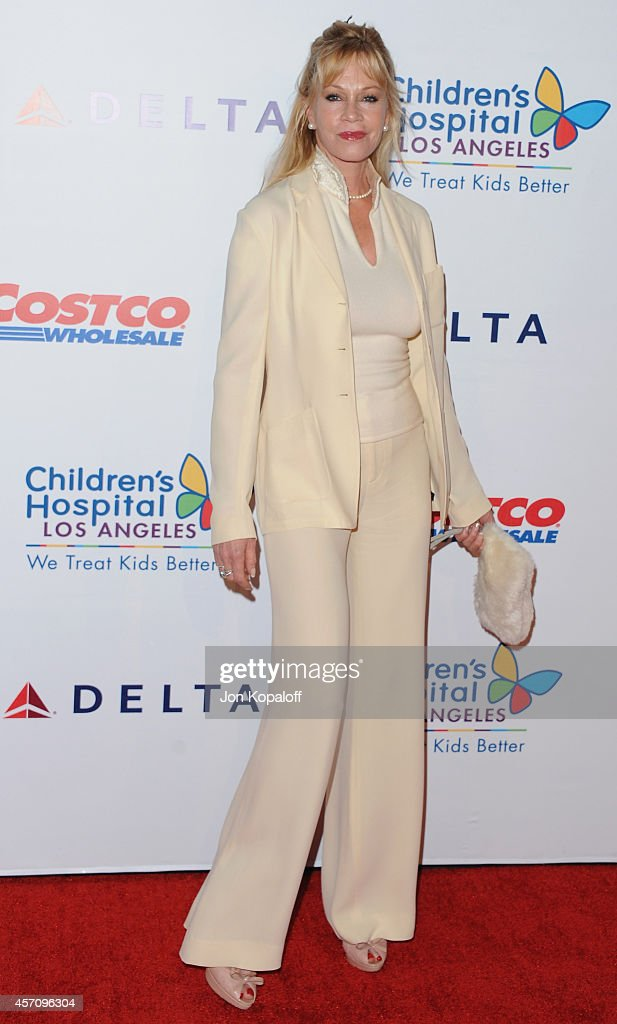 Actress Melanie Griffith arrives at the Children's Hospital Los Angeles Gala Noche de Ninos at LA Live Event Deck on October 11 2014 in Los Angeles...