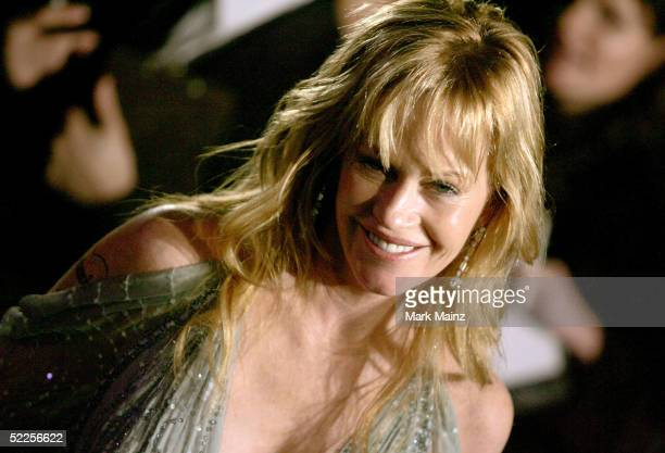 Actress Melanie Griffith arrives at the Vanity Fair Oscar Party at Mortons on February 27 2005 in West Hollywood California