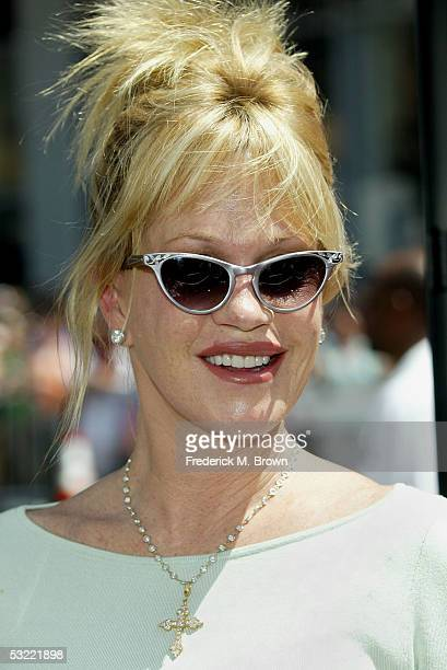 Actress Melanie Griffith arrives at the Warner Bros Premiere of Charlie and the Chocolate Factory at the Grauman's Chinese Theatre on July 10 2005 in...