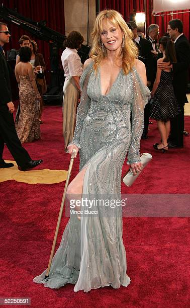 Actress Melanie Griffith arrives the 77th Annual Academy Awards at the Kodak Theater on February 27 2005 in Hollywood California