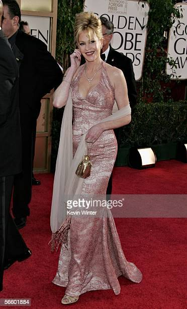 Actress Melanie Griffith arrives to the 63rd Annual Golden Globe Awards at the Beverly Hilton on January 16 2006 in Beverly Hills California