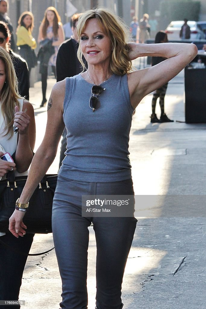 Actress <a gi-track='captionPersonalityLinkClicked' href=/galleries/search?phrase=Melanie+Griffith&family=editorial&specificpeople=171682 ng-click='$event.stopPropagation()'>Melanie Griffith</a> as seen on August 15, 2013 in Los Angeles, California.