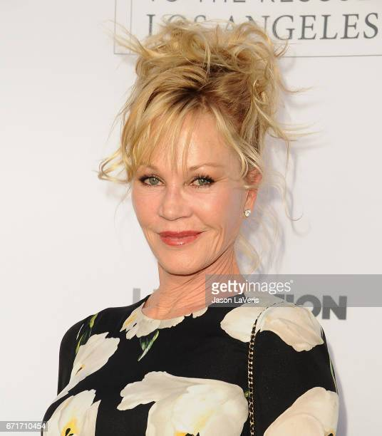 Actress Melanie Griffith attends Humane Society of The United States' annual To The Rescue Los Angeles benefit at Paramount Studios on April 22 2017...