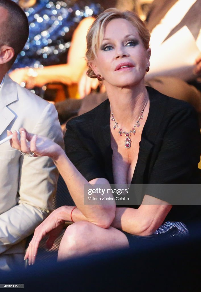Actress <a gi-track='captionPersonalityLinkClicked' href=/galleries/search?phrase=Melanie+Griffith&family=editorial&specificpeople=171682 ng-click='$event.stopPropagation()'>Melanie Griffith</a> attends Lucy Premiere during the 67th Locarno Film Festival on August 6, 2014 in Locarno, Switzerland.